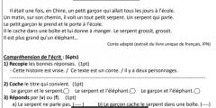 مواضيع السنة الرابعة ابتدائي في الفرنسية